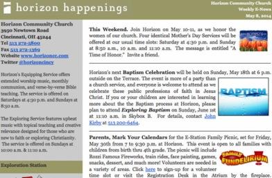 E-Newsletter Archive
